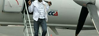 Usain Bolt přiletěl do Ostravy, 13. 6. 2009